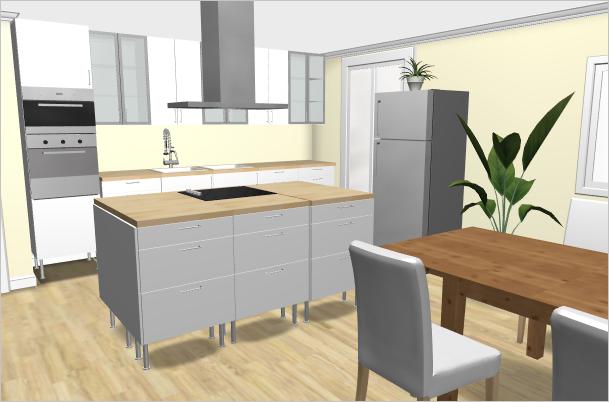 1. Entwurf zur neuen Küche